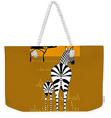 Zebra Mare With Baby Weekender Tote Bag