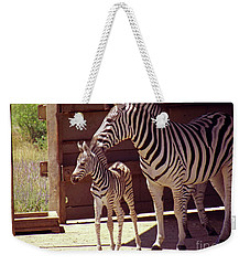 Zebra Mom And Baby Weekender Tote Bag