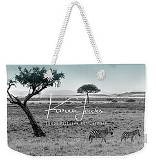 Zebra Mother And Child On The Mara Weekender Tote Bag