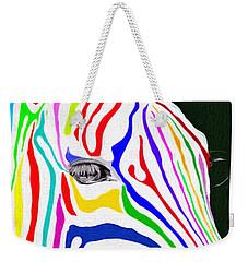 Zebra Nothing Is Black And White Weekender Tote Bag