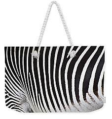 Zebra Pattern Weekender Tote Bag