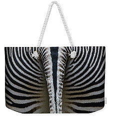 Weekender Tote Bag featuring the photograph Zebra Stripes by Heiko Koehrer-Wagner