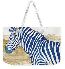 Zebra - Stylised Pop Art Poster Weekender Tote Bag by Kim Wang