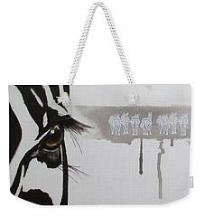Zebra Tears Weekender Tote Bag