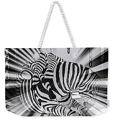 Zebra Time Weekender Tote Bag