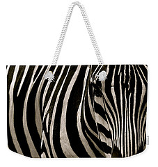 Zebra Up Close Weekender Tote Bag