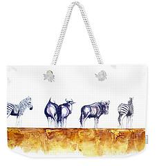Zebras And Wildebeest 2 Weekender Tote Bag