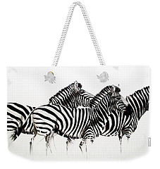 Zebras - Black And White Weekender Tote Bag