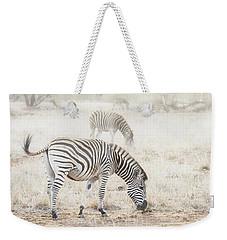 Zebras In Dreamy Scene - Horizontal Banner Weekender Tote Bag