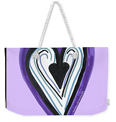 Zen Card Heart Path Weekender Tote Bag