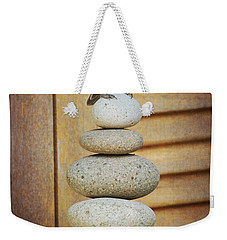 Weekender Tote Bag featuring the photograph Zen Chickadee by Heidi Hermes