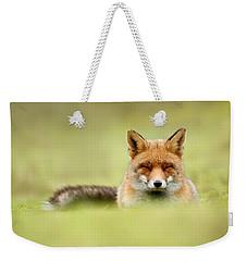Zen Fox Series - Zen Fox In A Sea Of Green Weekender Tote Bag
