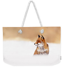 Zen Fox Series - Zen Fox In Winter Mood Weekender Tote Bag