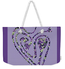 Zen Heart Labyrinth Floral Weekender Tote Bag