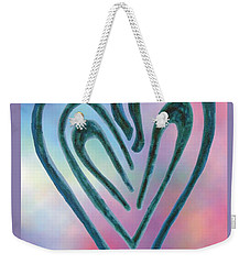 Zen Heart Labyrinth Weekender Tote Bag