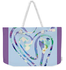 Zen Heart Labyrinth Pastel Painting Weekender Tote Bag
