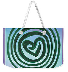 Zen Heart Labyrinth Sky Weekender Tote Bag