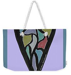 Zen Heart Map Weekender Tote Bag