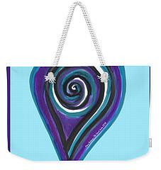 Zen Heart Vortex Wave Weekender Tote Bag