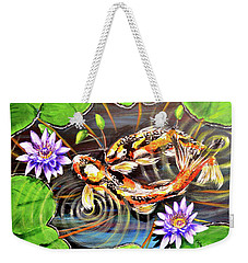 Zen Koirala Ripple Dance Weekender Tote Bag by Patricia L Davidson