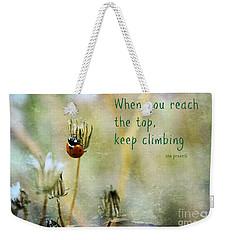 Zen Proverb Weekender Tote Bag