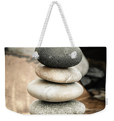 Zen Stones Iv Weekender Tote Bag by Marco Oliveira