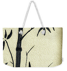 Zen Sumi Antique Bamboo 1a Black Ink On Fine Art Watercolor Paper By Ricardos Weekender Tote Bag