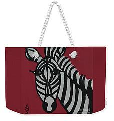 Zena Zebra Weekender Tote Bag