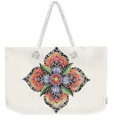 Zendala Template #1 Weekender Tote Bag by Jan Steinle