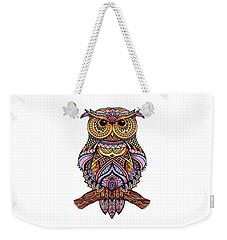 Zentangle Owl Weekender Tote Bag