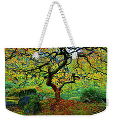 Weekender Tote Bag featuring the photograph Zentastick by Jonathan Davison