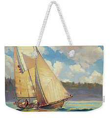 Weekender Tote Bag featuring the painting Zephyr by Steve Henderson