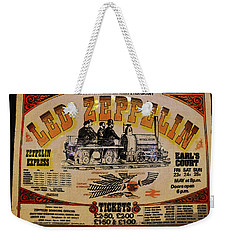 Zeppelin Express Weekender Tote Bag by David Lee Thompson