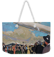 Weekender Tote Bag featuring the painting Zeppelin by Nop Briex