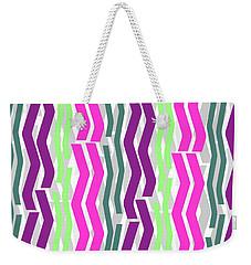 Zig Zig Stripes Weekender Tote Bag by Louisa Knight