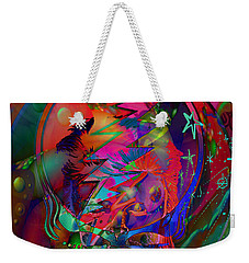 Weekender Tote Bag featuring the painting Ziggy  by Kevin Caudill