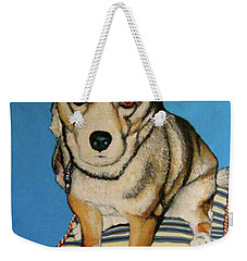 Weekender Tote Bag featuring the painting Ziggy by Tom Roderick
