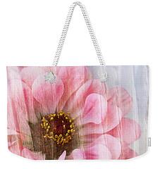Sheer Zinnia Weekender Tote Bag