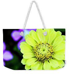 Zinnia Flower Weekender Tote Bag