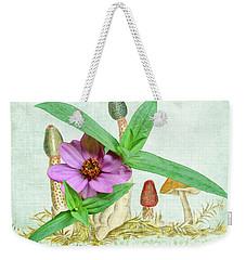 Zinnia In The Mushrooms Weekender Tote Bag