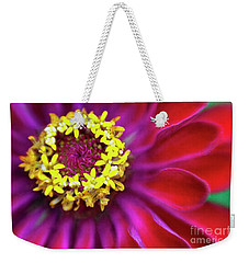 Zinnia Magenta Weekender Tote Bag