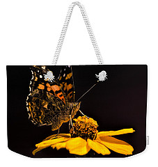 Zinnia Sipping Weekender Tote Bag by Alana Thrower
