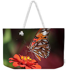 Zinnia With Butterfly 2668 Weekender Tote Bag