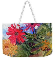 Zinnias In The Garden Weekender Tote Bag