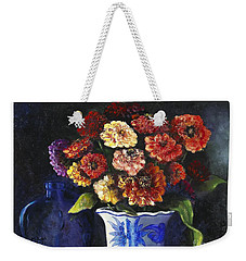 Zinnias Weekender Tote Bag by Marlene Book