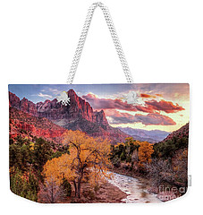 Zion Autumn Sunset Weekender Tote Bag