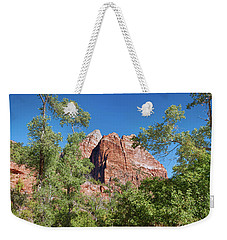 Weekender Tote Bag featuring the photograph Zion Contrasts by John M Bailey
