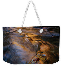 Weekender Tote Bag featuring the photograph Zion Gold by Dustin LeFevre