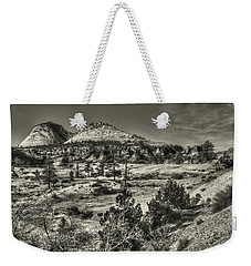 Zion National Park Along Rt 9 Weekender Tote Bag