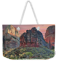 Zion National Park Sunset Weekender Tote Bag by Walter Colvin